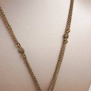 Lucky Brand Jewelry - Lucky Brand Oval Pendant Necklace Antique Gold